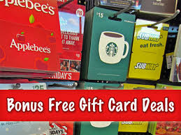 gift cards deals free bonus gift card deals 2012 applebee s outback more