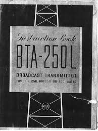 rca bta 250l broadcast transmitter manual