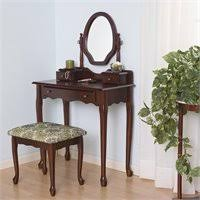 2 Piece Vanity Set Coaster Frosted Black Wrought Iron Makeup Vanity Table Set With