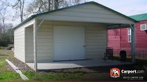 Carport Attached To Garage Metal Garage With Boxed Eave Roof 20 U0027 X 26 U0027 Shop Garages Online