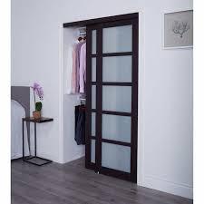tempered glass closet doors renin style espresso tempered glass sliding closet door