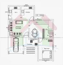 square meters map for house of two floors three bedrooms and 75 square meters