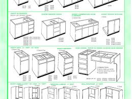 kitchen cabinet standard kitchen cabinet size chart measurements