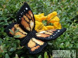 needlepoint monarch butterfly carriewolf