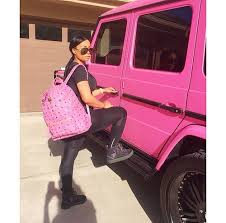 blac chyna jeep amber rose shows off her new pink jeep lipstick alley