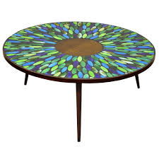 mid century modern vintage formica and tile top coffee table