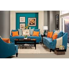 Blue Sofas And Loveseats Furniture Of America Estella Retro 3 Piece Peacock Blue Sofa Set