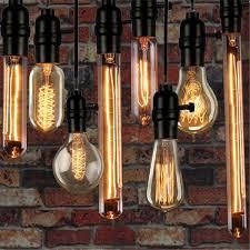 Schlafzimmer Lampe Vintage Kingso 3x E27 Edison Lampe 40w A19 23 Anchors Glühbirne Vintage