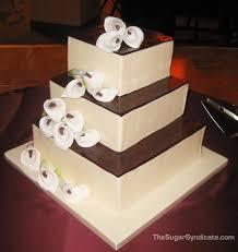 Square Wedding Cakes Lovely Calla Lilly Wedding Cakes