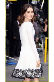 lily collins at u0027good morning america u0027 beautiful long sleeve party