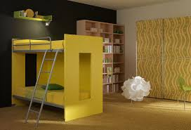 Kids Bunk Beds With Desk Boys Bedroom Wonderful Orange Sheet Bunk Bed In Yellow Rug And