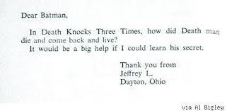 comicsalliance answers fan letters to batman from 1966