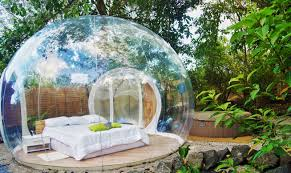 sleep in a clear bubble at this martinique ecolodge