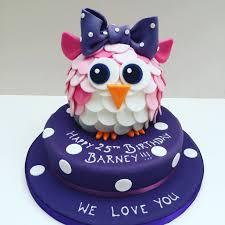 owl birthday cakes pink owl birthday cake etoile bakery