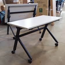 Basyx Office Furniture by 4 U0027 Training Tables With Flip Base By Basyx Office Furniture