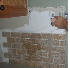 HOME DZINE Home Improvement Cover Up Existing Tiled Wall Or - Covering tile backsplash