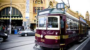Melbourne Tram Map City Circle Tram Attraction Melbourne Victoria Australia
