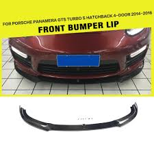 porsche hatchback 4 door aliexpress com buy carbon fiber racing front bumper lip for