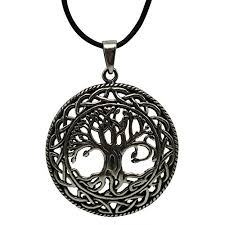 celtic tree of pewter necklace wicca pagan jewelry