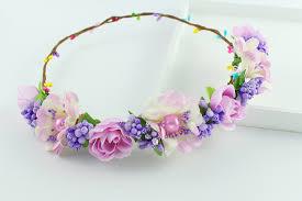 hair wreath color headband real floral hair wreath rustic bridal