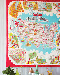 Wall Map Of The United States by Map Textile Decorating Projects Martha Stewart