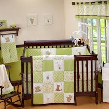 Mickey Mouse Baby Bedding Chambray Crib Bedding Home Beds Decoration