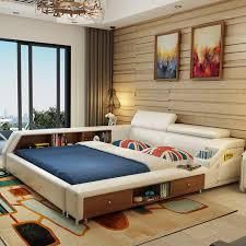 Online Buy Wholesale White Leather Beds From China White Leather - Modern white leather bedroom set