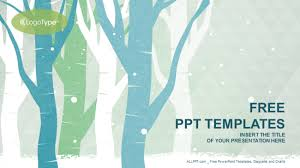 winter trees nature powerpoint templates