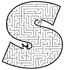 small letter s coloring pages maze coloring pages