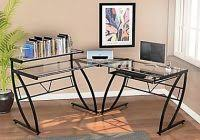 Z Line Belaire Glass L Shaped Computer Desk Z Line Belaire Glass L Shaped Computer Desk Z Line Belaire