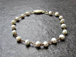 gold silver pearl bracelet images Freshwater pearl bracelet in sterling silver or 14k gold filled jpg