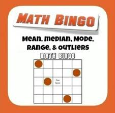 mean median mode range and outlier bingo from mathematic