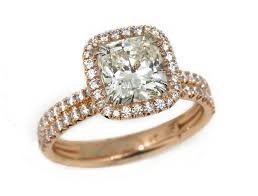 gold platinum rings images 18k rose gold platinum 1 81 carat cushion diamond center pave jpg