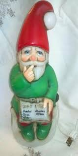 Vintage Blow Mold Christmas Decorations For Sale by Vintage Light Up Elf Gnome Xmas Christmas Decoration Plastic Blow