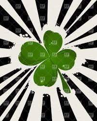 st patrick u0027s day background with lucky four leaf clover vector
