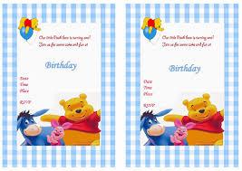 Birthday Invitation Cards Printable Birthday Card Best Choices Winnie The Pooh Birthday Cards Winnie