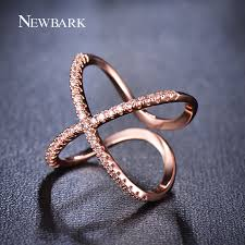 cross jewelry rings images Newbark hot letter x shape ring for women adjustable micro paved jpg
