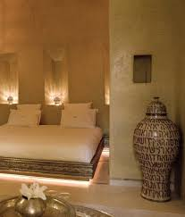 Moroccan Mystique Feature Wall Contemporary Bedroom by Anayela Marrakech Morocco Design Hotels