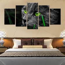chambre noir et vert artryst 5 pcs vert yeux noir mur photo décor à la