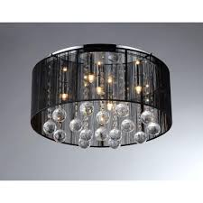warehouse of tiffany jasmine 4 light black crystal ceiling