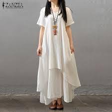 online get cheap cotton and linen dress maxi dress aliexpress com