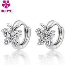 girl earrings fashion 925 sterling silver luxury stud earrings butterfly