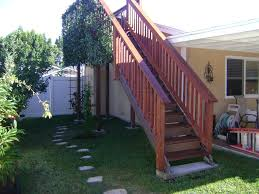 decorations excellent red cherry wooden exterior stairwell with