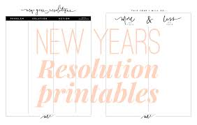 Setting Worksheets New Years Resolutions Printable Worksheets Life With Me By