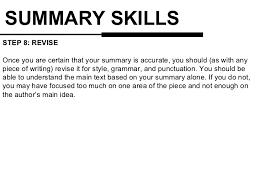 Resume Skills Summary Examples Summary Writing Skills