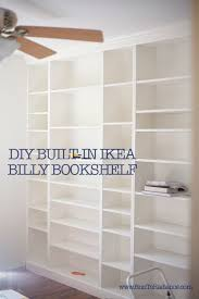 diy ikea billy bookcase built in bookshelves part 2 ikea billy