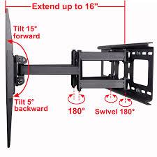 best swivel tv wall mount videosecu tilt swivel full motion tv wall mount dual arm bracket