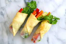 rice paper wrap egg and vege rice paper rolls the brown paper bag