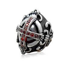 gothic ruby rings images 2016 vintage ruby jewelry gothic cross rings for men cool vampire jpg