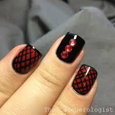 valentine u0027s day red u0026 black nail art u2022 casual contrast